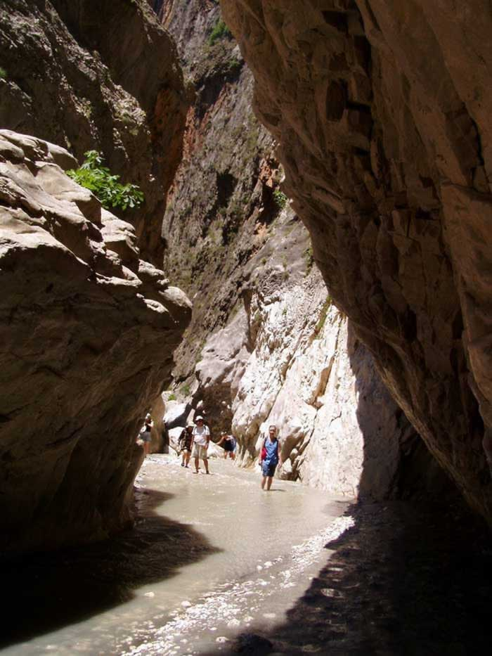Spectacular landscape in Saklikent Gorge