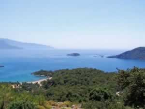 Oludeniz beach - View from the nearby mountain