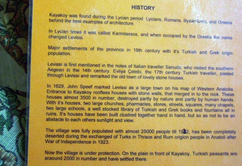 A little bit of Kayakoy's bitter history