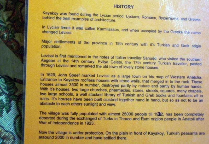 A little bit of Kayakoy's bitter history