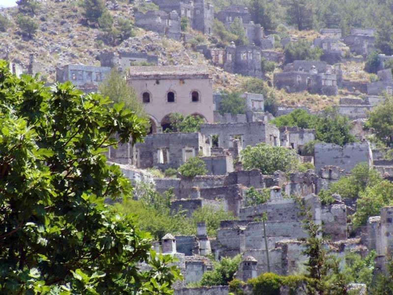 The ghost town of Kayakoy is now a museum you can visit for a few YTL