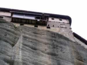 Meteora monastery lift