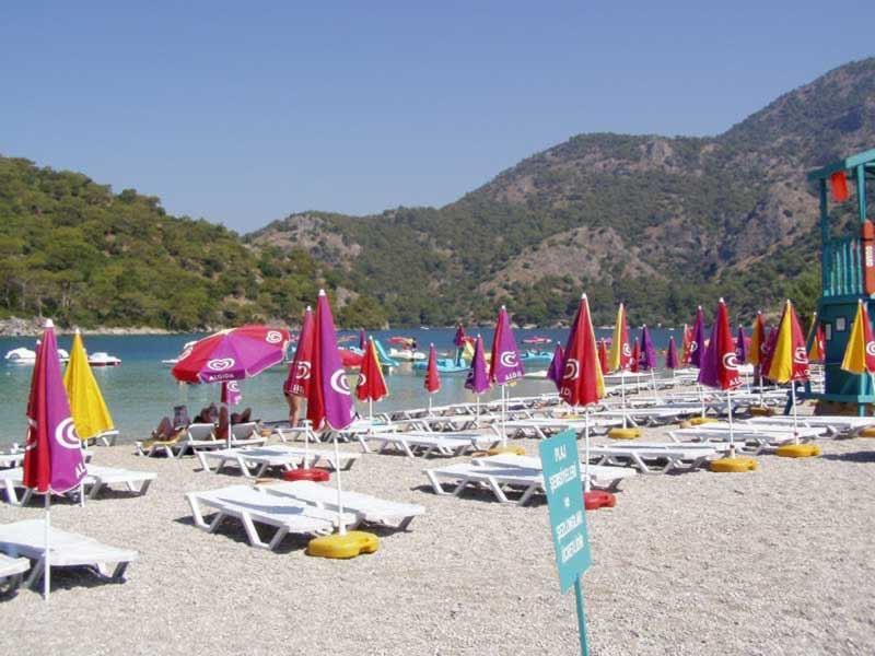 "This is an ""organized beach"" - Oludeniz, Turkey"
