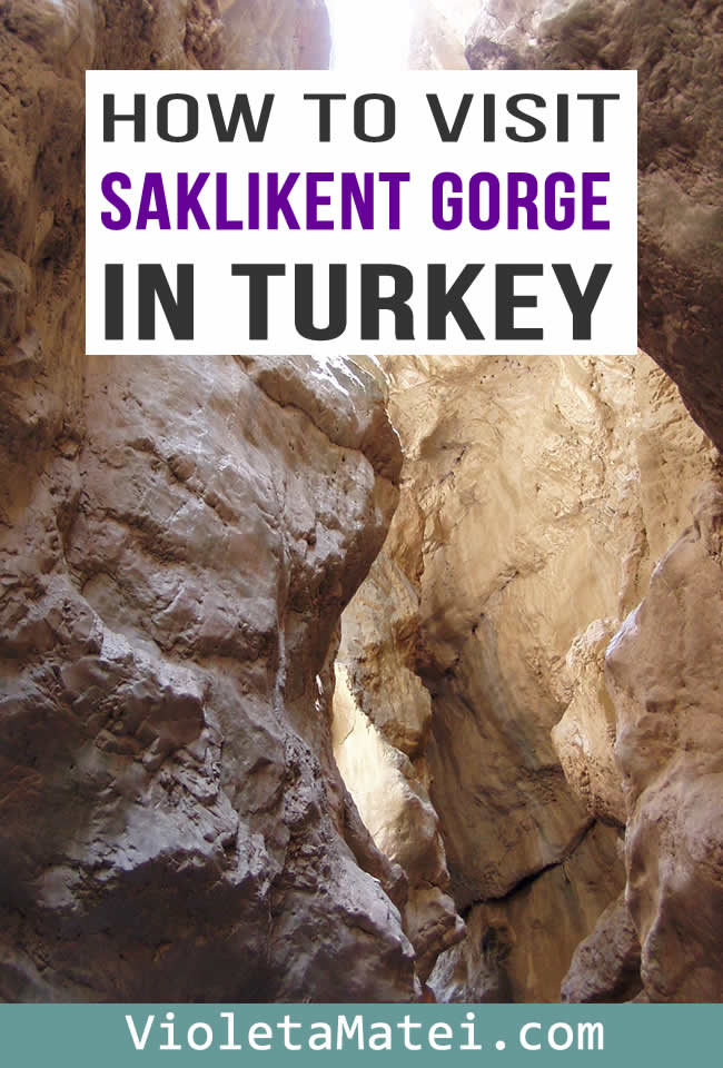 Salkikent Gorge is one of the most beautiful places to see in southern Turkey. Find out how to get to Saklikent Gorge from Fethyie, Dalaman or Oludeniz. Experience walking through water under majestic rocks.