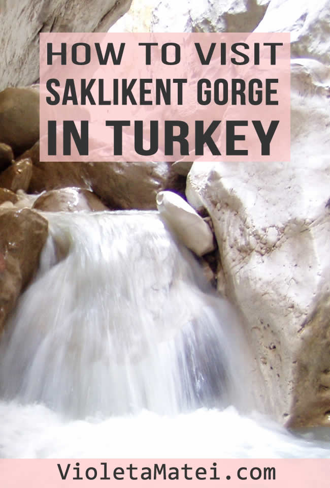 Salkikent Gorge is one of the most beautiful places to see in southern Turkey. Walk through the river, see the giant boulders and take the best photos ever.