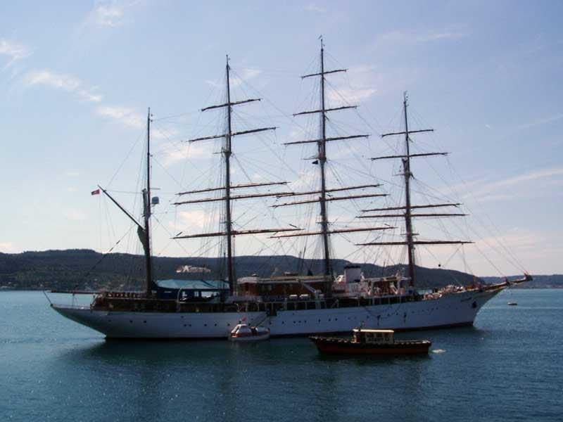 Beautiful ship in the Blue Lagoon