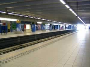 Metro station in Brussels