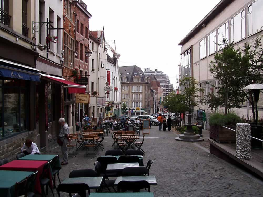 Cute little street in Brussels