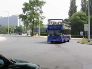 Tourist bus in Brussels