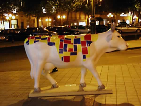Abstract pattern cow