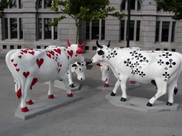 Art on Cows in Brussels