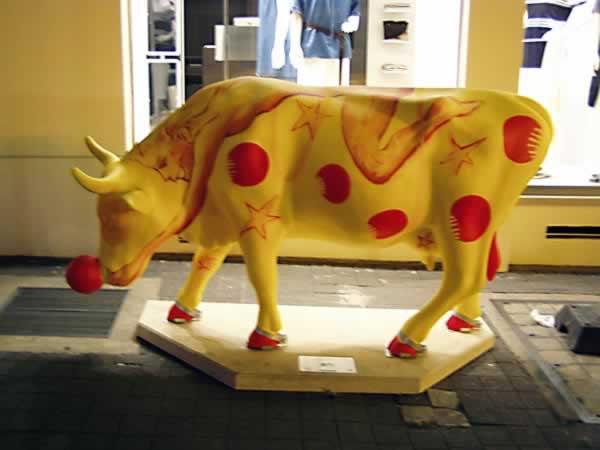 The clown cow