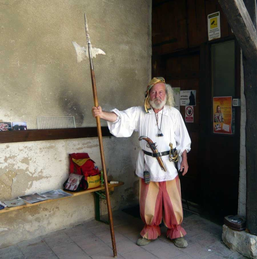 Old guard in Rasnov fortress