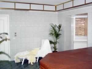 The spa and sauna room