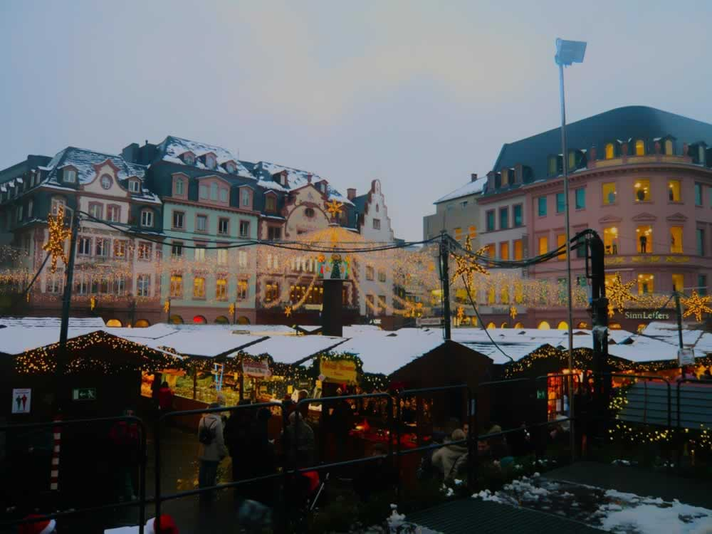 Christmas market in Mainz, Germany