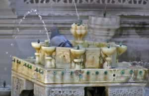 Beautiful marble fountain at Topkapi