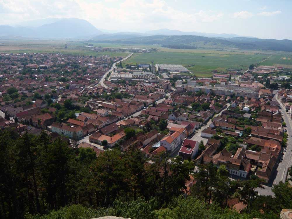 Rasnov town - view from the fortress