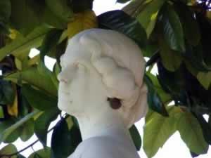 Greek goddess with modern earrings