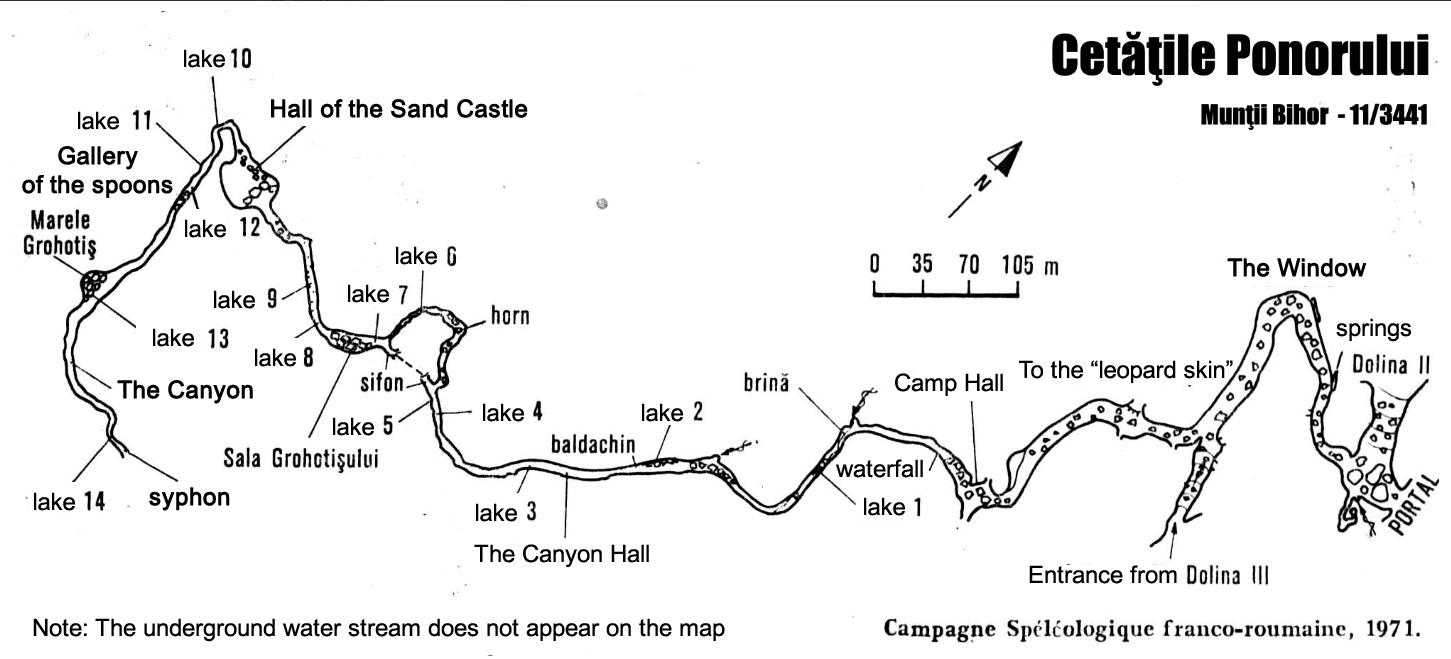 Cetatile Ponorului map