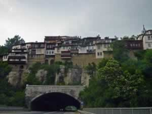 Houses Over the Road in Bulgaria