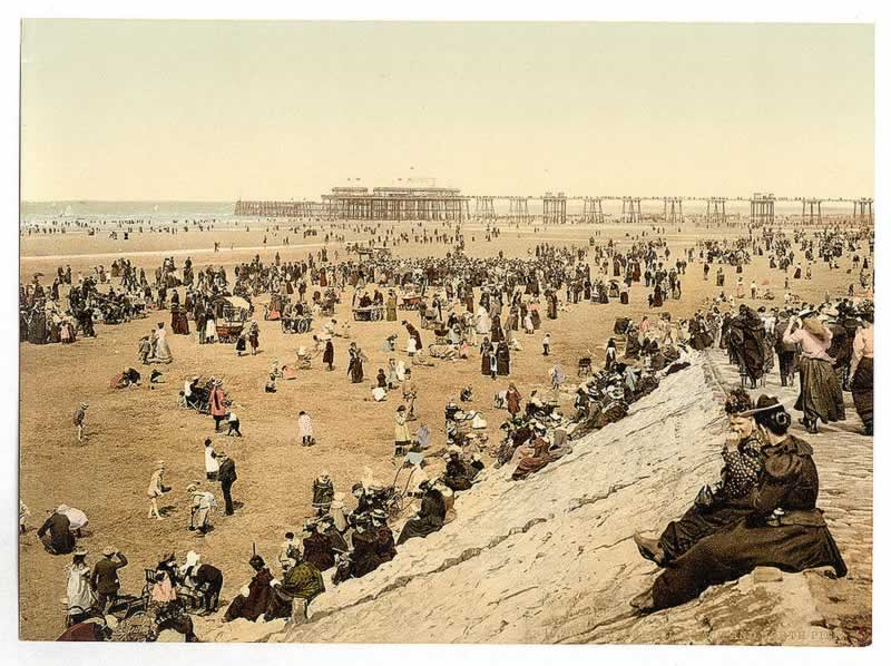 The Blackpool beach