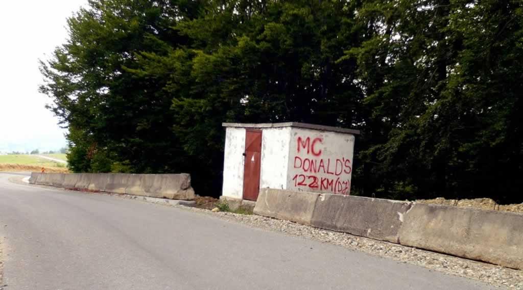 McDonalds Road Sign