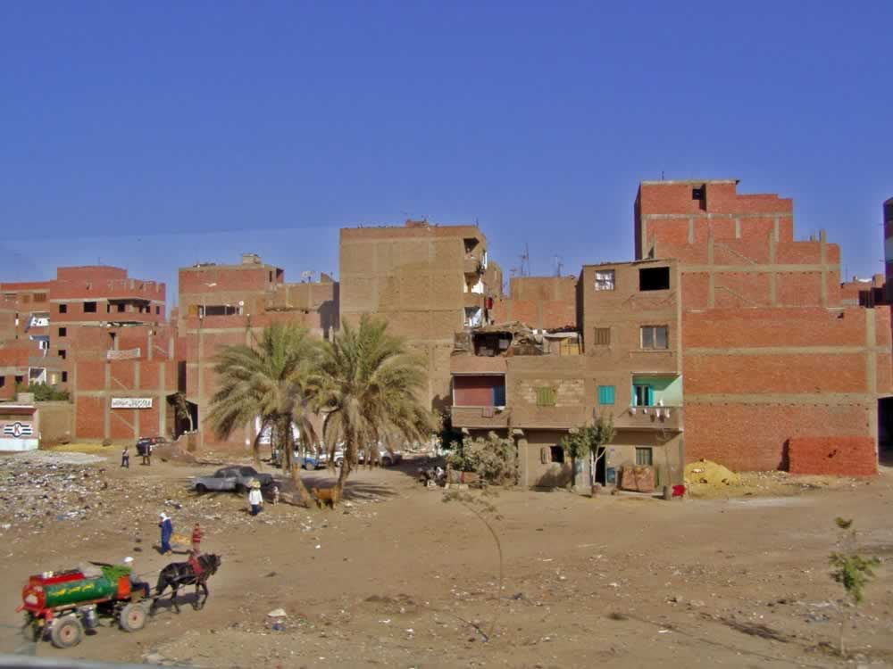 Buildings on the road from Cairo to Gizeh