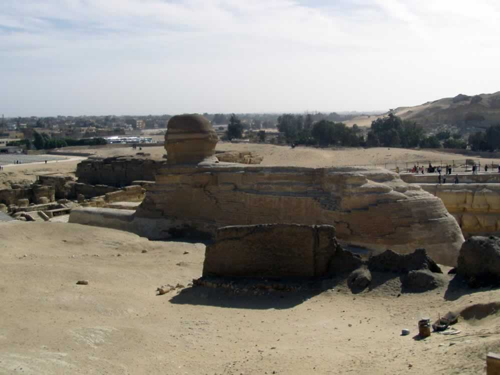 Egypt - The Sphynx - rear view