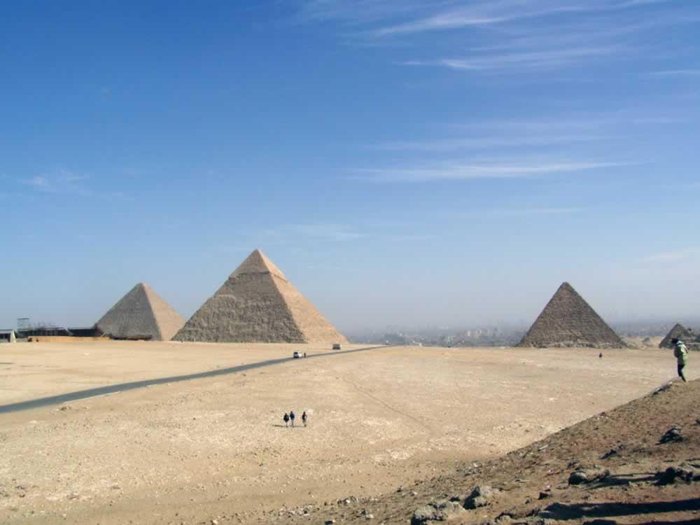 Pyramids on Gizeh plateau, Egypt