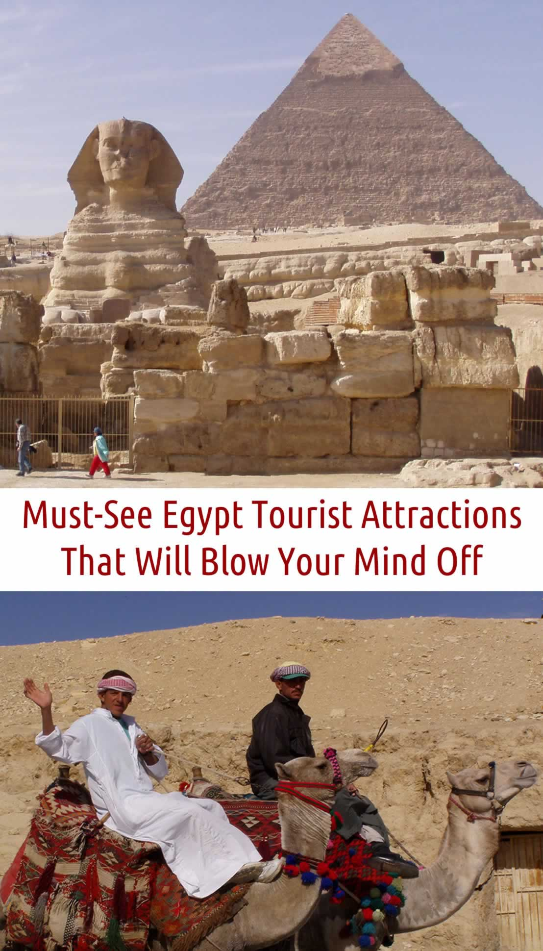 egypt tourist attractions, pyramids, the Sphinx, camels