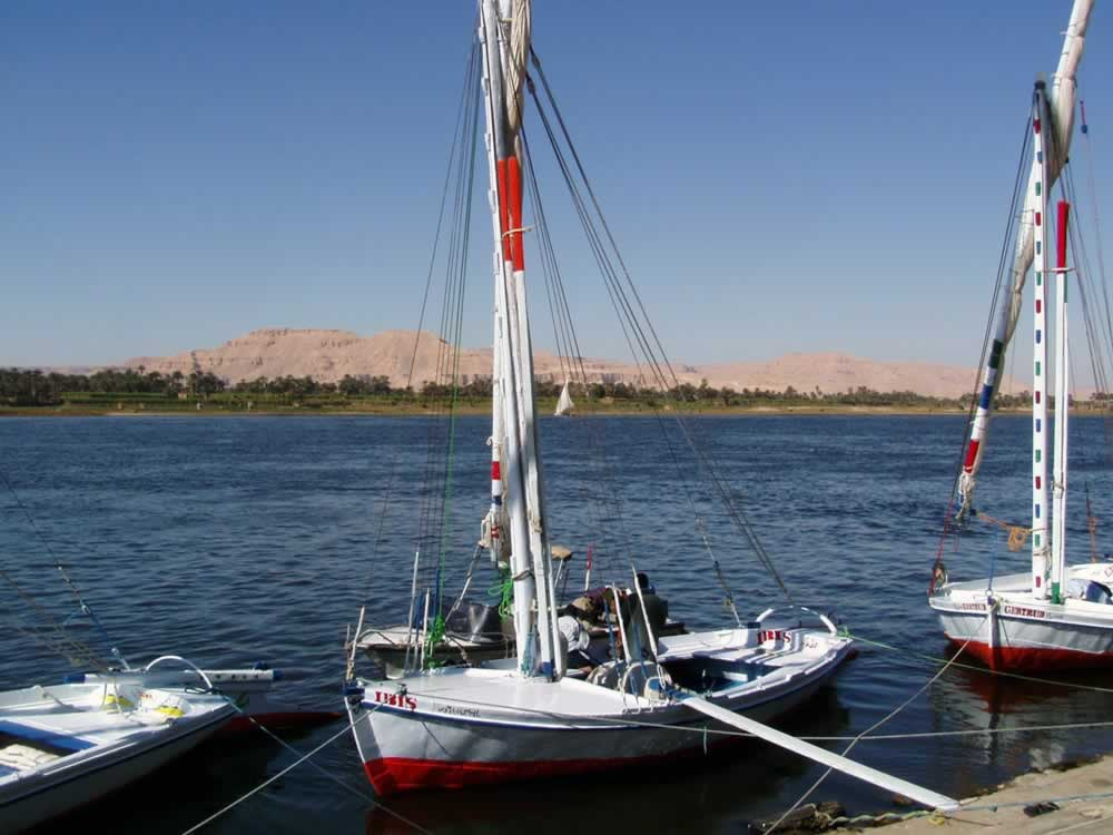Felluca, the Egyptian traditional boat on the Nile