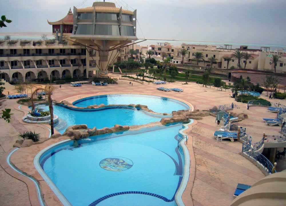 Hurghada, Egypt - All inclusive resort - pool view