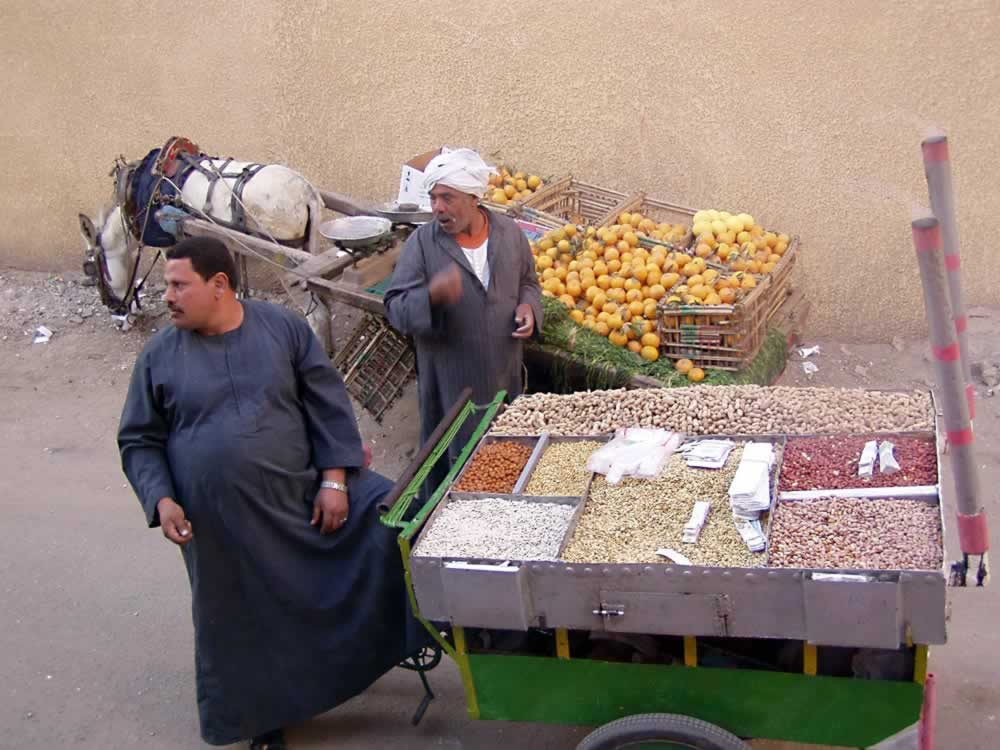 Street cart - nuts vendor - Egypt