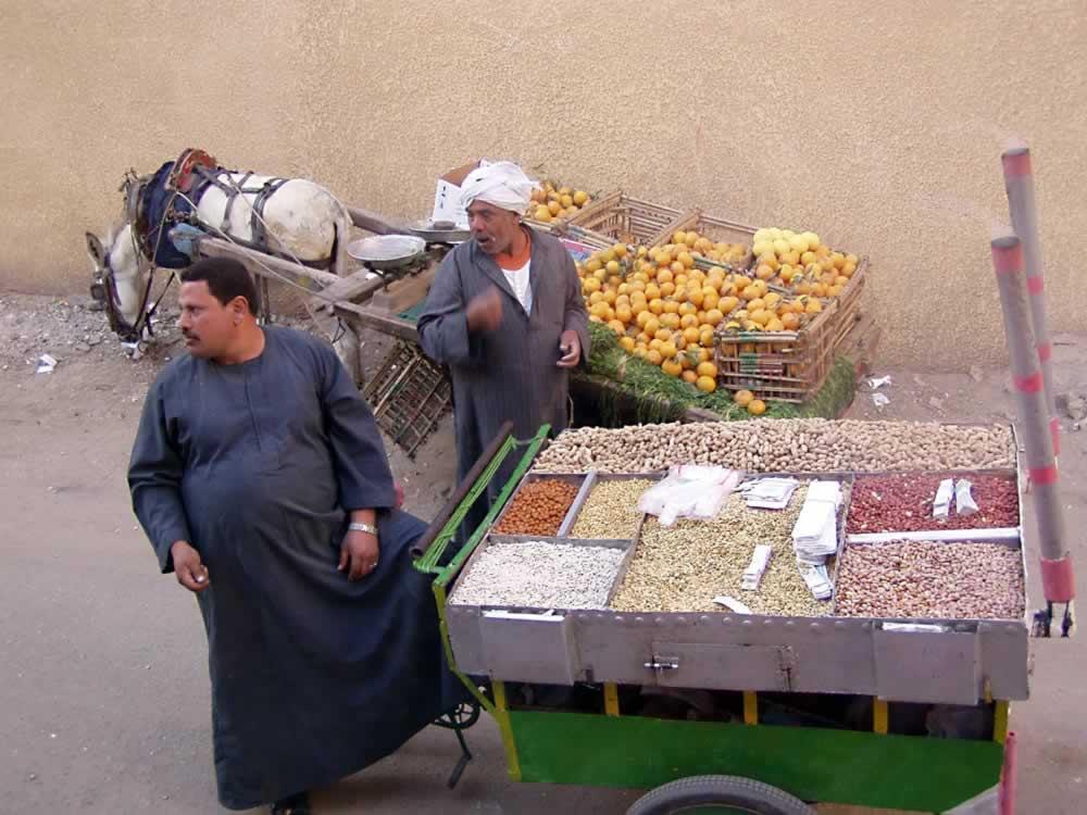 Street cart - nuts vendor - Egypt