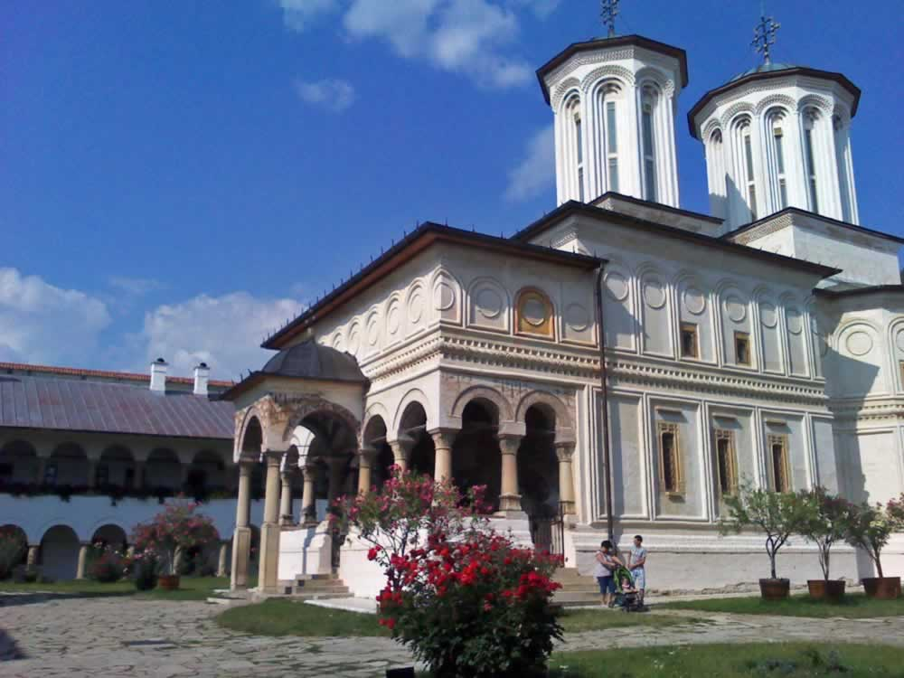 Church in a monastery in Romania