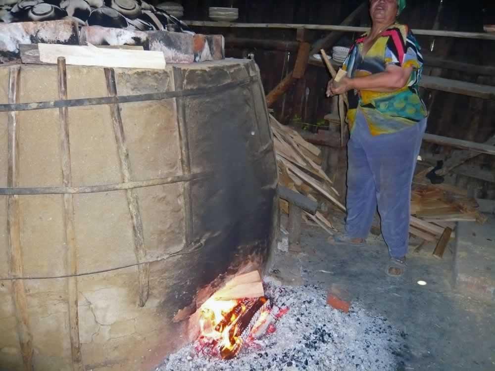 Clay oven in Olari, Romania
