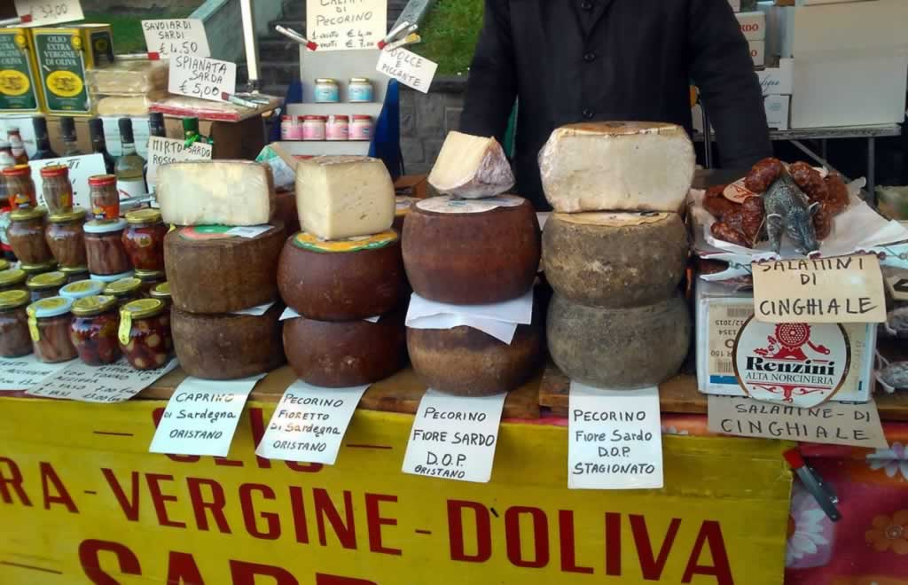 Italian cheese booth