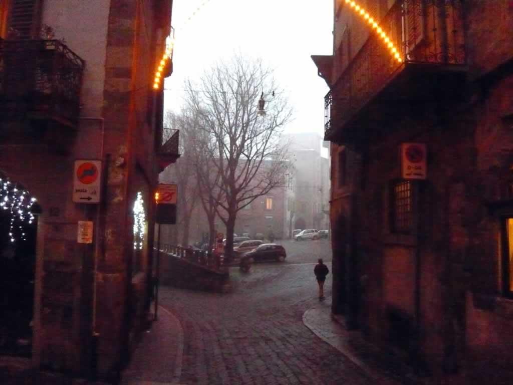 Bergamo High City By Nightfall