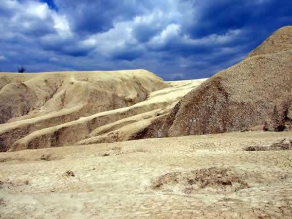 mud volcanoes Berca dry landscape