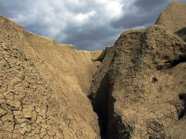 land crack at Muddy Volcanoes Romania