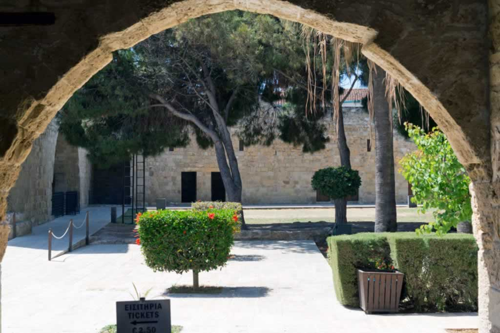 Museum entrance in Larnaka center