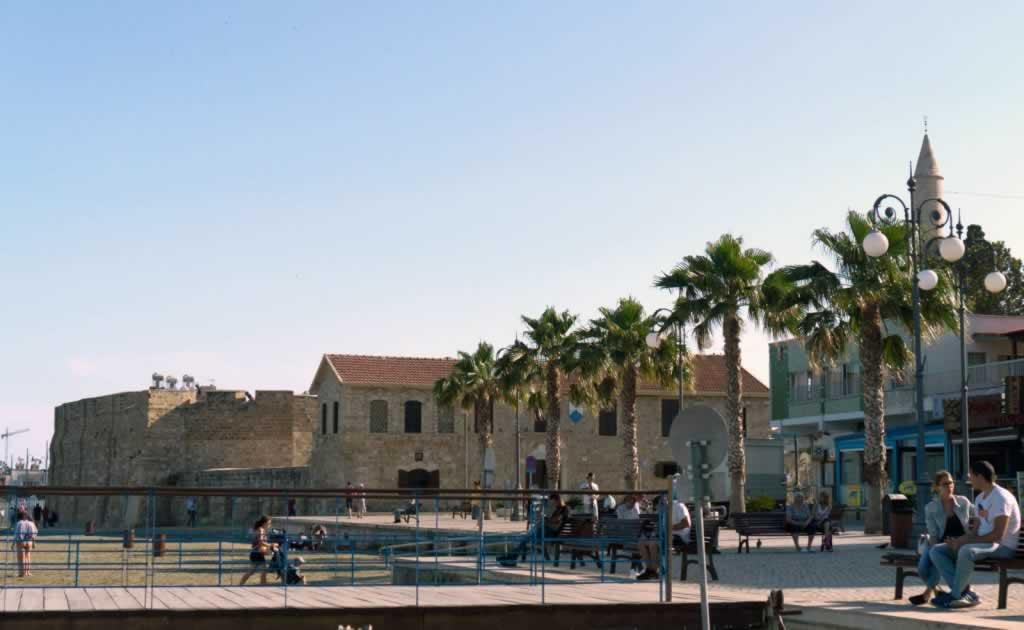 larnaka citadel beach cyprus