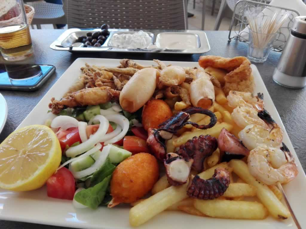 seafood mixed grill platter
