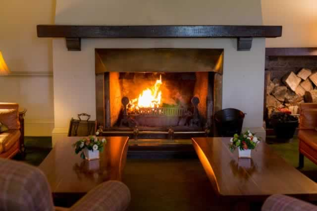 dromquinna cottage fireplace