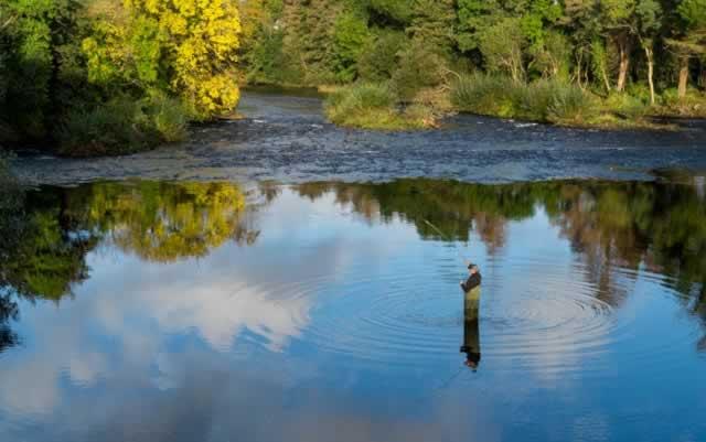 Flesk river Killarney fisherman