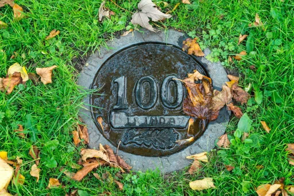 100 years sign