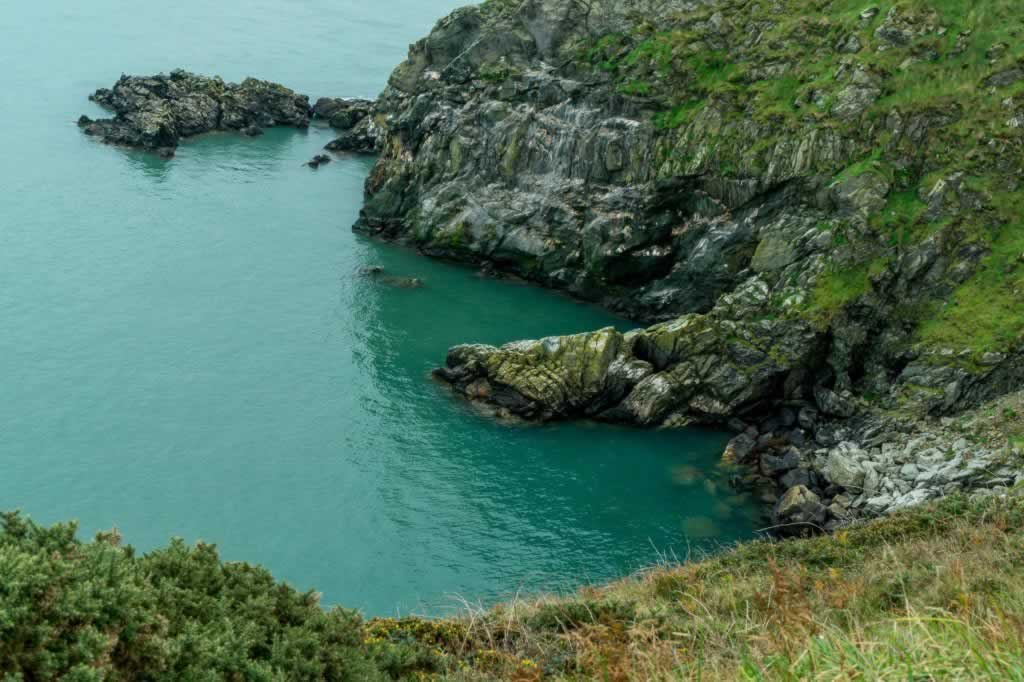 cove seen from the cliff walk