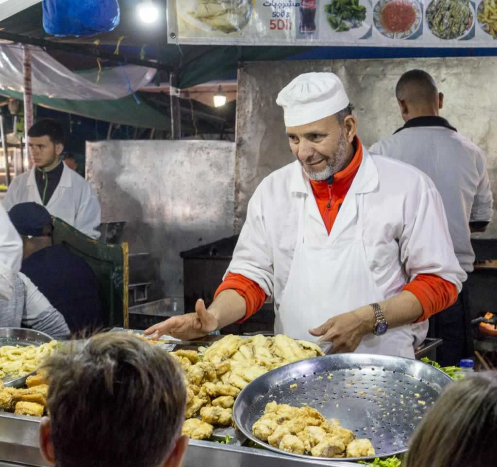 marrakech street food vendor