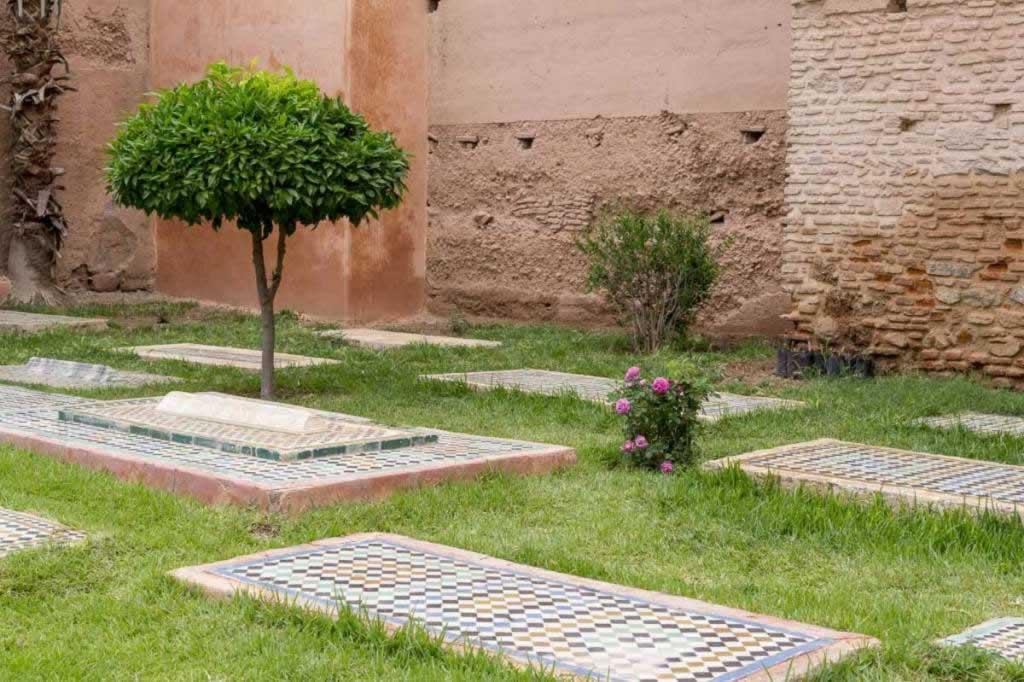 saadian tombs grass