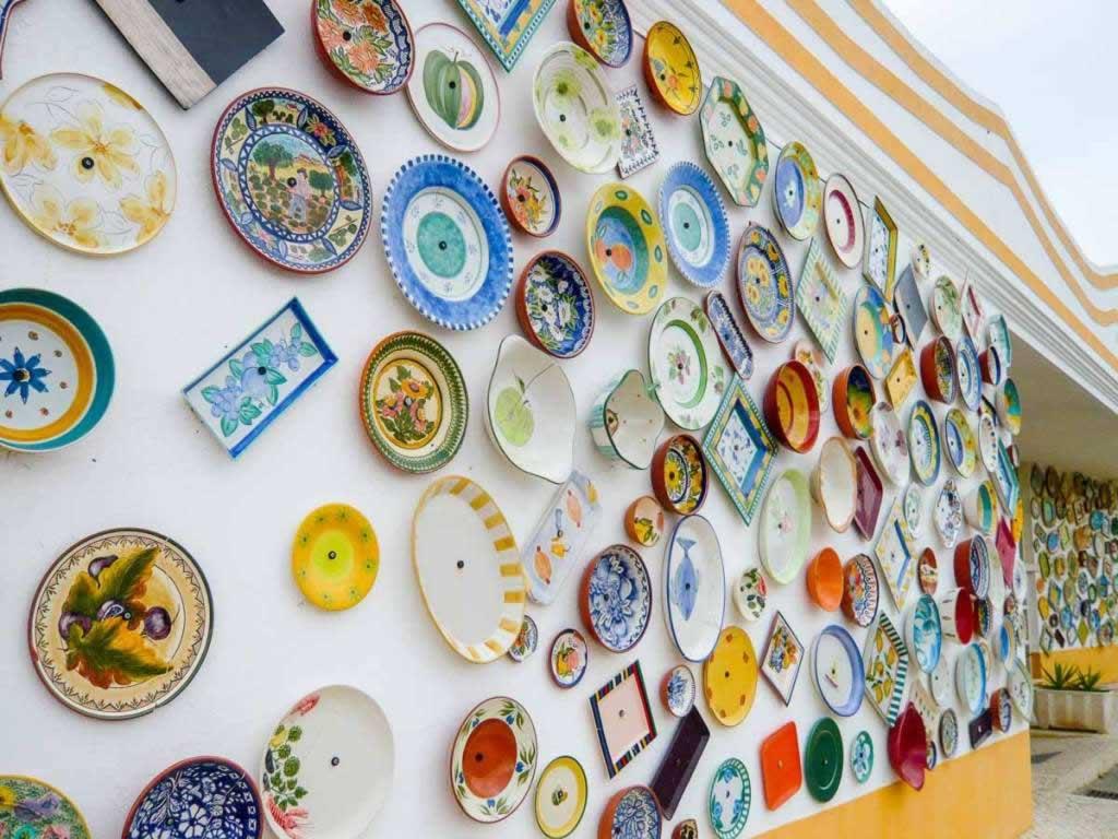 sagres portugal ceramic plates